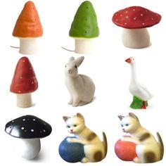 Heico by Egmont toys #mushroom #rabbit #heico #cat