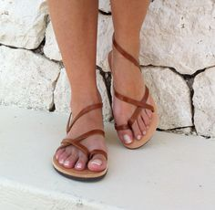 9a39335c5c51 leather sandals in brown color