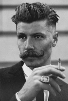 1920s mens hairstyles - Google Search Moustaches, Movember Mustache, Big  Moustache, Mustache Grooming