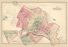 Vintage map  Antique map of Richmond  Antique by AncientShades, $30.00