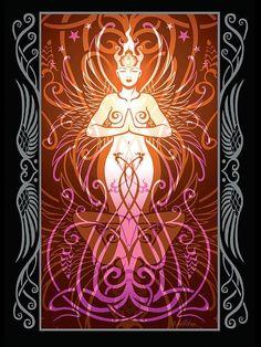 Wicca, Pagan Art, Sacred Feminine, Goddess Art, Pics Art, Psychedelic Art, Book Of Shadows, Sacred Geometry, Cosmos