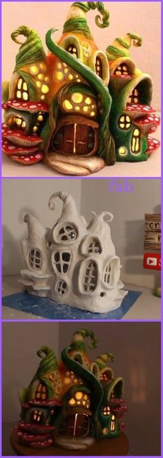 DIY Enchanted Fairy House Lamp from Plastic Bottle Tutorial-Video