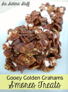 Gooey Golden Grahams S'mores Treats.  One of my dad's favorites that I make for him periodically.  It's a smores spin on rice crispy treats.  It doesn't keep very long if you want to store them though.