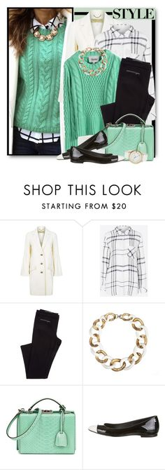 """""""Black, White & Mint"""" by brendariley-1 ❤ liked on Polyvore featuring Burberry, Rails, Givenchy, Mark Cross, Chanel and Tommy Hilfiger"""