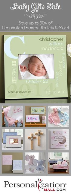 This site has the best baby gifts they're all personalized for free and they're on sale now for 30% off! Their embroidered baby blankets are BEAUTIFUL! #Baby #BabyGift #Sale