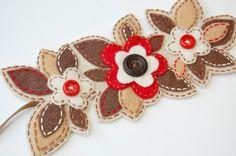 felt flowers for yarn wrapped wreath. In-laws?