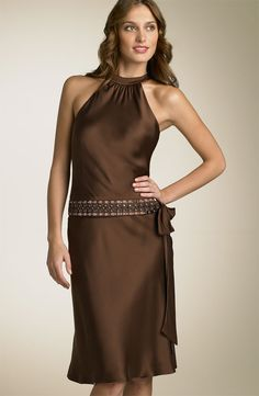 Anne Klein Dress Embellished Cutaway Dress