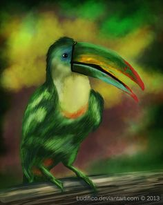 Rainbow Toucan by Ludifico.deviantart.com on @deviantART