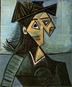 Buste de femme au chapeau à fleurs - Picasso - 1942