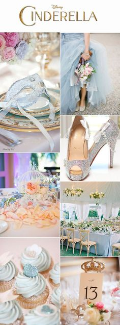 Disney Princess Wedding Theme Ideas For Bridesmaids - fairytale wedding theme: ideas to make your wedding magical Cinderella Theme, Cinderella Wedding, Fairytale Weddings, Disney Theme, Wedding Disney, Princess Fairytale, Disney Princess, Disney Weddings, Cinderella Quinceanera Themes
