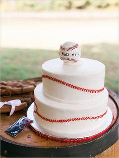 Baseball themed groom's cake.