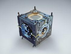 NPTV box by Maxim Goudin, via Behance