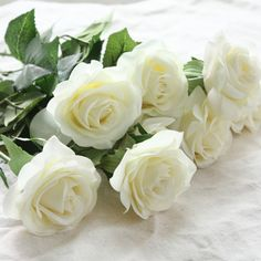 Home Decorations For Wedding Party Or Birthday Always Buy Good Medical & Mobility 3 Heads Latex Rose Small Buds Artificial Flowers Real Touch Rose Flowers Health & Beauty