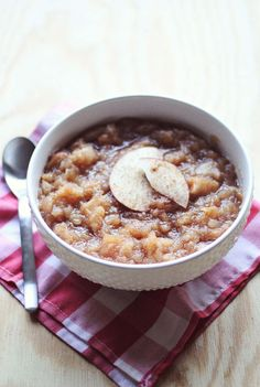 Overnight (Whiskey) Applesauce by A Beautiful Mess