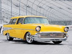 yellow 57 nomad..Re-Pin brought to you by#HouseofInsurance #EugeneInsurance #Oregon