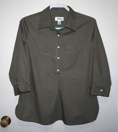 07af36b9aec2c TALBOTS WOMEN S SZ Sm ~ 3 4 SLEEVES 100% COTTON LOOSE FITTING BLOUSE ~