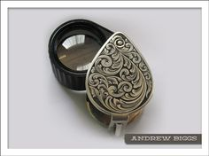 Hand engraved jeweler's loupe by Andrew Biggs of Christchurch, New Zealand.