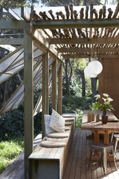 Might do this with my veranda - offers a bit of shade, but still lets the light in.