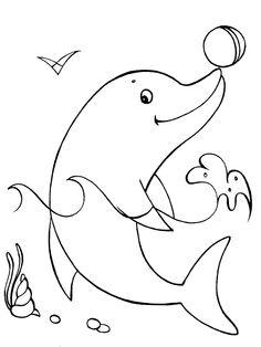 Dibujo para colorear de delfines (nº 2)