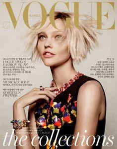 Vogue Corea Diciembre 2014: Sasha Pivovarova by Jason Kibbler