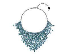 Collier VELO DE SADAYAKKO, perles - bleu