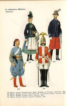 antique mexique uniformes - Buscar con Google