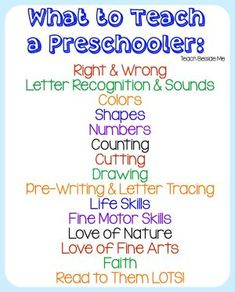 What To Teach a Preschooler : Homeschool Preschool The Effective Pictures We Offer You About Preschool lesson plans A quality picture can tell you many things. You can find the most beautiful pictures Preschool Lesson Plans, Preschool At Home, Preschool Kindergarten, Toddler Preschool, Homeschool Preschool Curriculum, Pre K Homeschool Curriculum, Preschool Rooms, Preschool Teachers, Teach Preschool