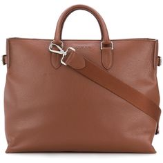 Orciani Orciani tote bag (38.815 RUB) via Polyvore featuring men's fashion, men's bags, brown, men's tote bag, mens leather bag, mens brown leather bag и mens leather tote bag