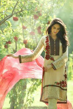 Lawn cotton dress