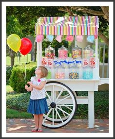 Custom Candy Cart serving the Greater Houston Area - Mary Had a Little Party Lolly Buffet, Candy Buffet, Bar Deco, Candy Stand, Bar A Bonbon, Sweet Carts, Candy Display, Candy Cart, A Little Party