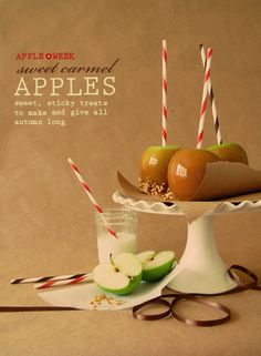 Strriped Straws + Carmel Apples Inspiration