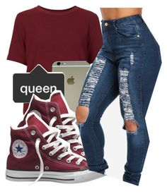 """""""*"""" by princess-kia54321 ❤ liked on Polyvore featuring moda, Topshop y Converse"""