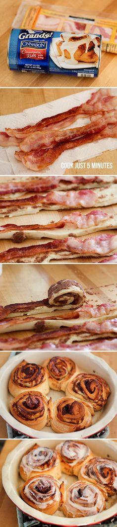 Easy Bacon Cinnamon Rolls