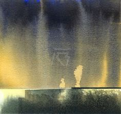 GRISAZUR: Acuarela sobre papel, 16,5x17,5 cm.Feb. 15, 2015