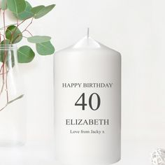 Personalised Birthday Gifts for Grandma Personalised Gift Shop, Personalized Candles, Personalized Birthday Gifts, Birthday Gifts For Grandma, Grandma Gifts, Retro Sweet Hampers, Birthday Name, Fabulous Birthday, Birthday Candles
