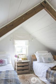 Light and bright coastal bedroom. Photo: Mark Bolton. countryliving.co.uk