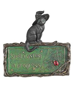 8a04520ab36c Design Toscano Witch s Cat Plaque