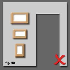 How To Hang And Align Pictures Correctly On A Wall :: @Thinctanc.com