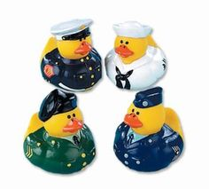 Amazon.com: One Dozen (12) Armed Forces Rubber Duck Party Favors: Baby -- See more cool ideas for your classroom at http://pinterest.com/josephknable/the-dojo-language-arts-fun-is-not-an-oxymoron/
