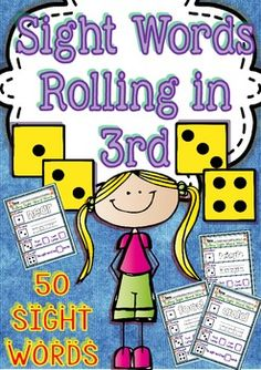Sight Words Rolling in 3rd (50 Sight Words Printables + 2 Recorded Sheets)