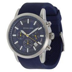 Michael Kors MK8240 Men's Scout Blue Dial Blue Rubber Strap Chronograph Watch
