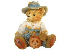 Vintage Enesco Cherished Teddies Fall Autumn Bear Statue Decoration Miniature Cute Animal Resin Shelf Table Display Collection