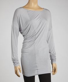 Gray Long-Sleeve Top | Daily deals for moms, babies and kids