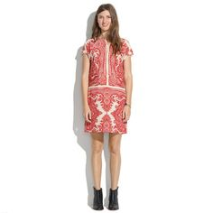 Ah, I need you. I need you for next week.   Madewell - Silk Paisley Tunic Dress
