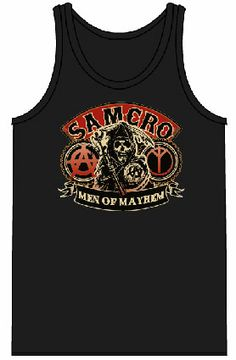 Sons of Anarchy SAMCRO Red Men of Mayhem Black Adult Tank Top $18.95