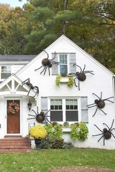 I can't think of anything creepier than having spiders crawling all over the place. Errr... This is why these giant hairy spiders are the ultimate Halloween party decoration, and just what you need to decorate your house for Halloween. See more party ideas and share yours at CatchMyparty.com #catchmyparty #partyideas #halloween #halloweenpartydecorations #outdoorhalloweenpartydecorations #partysupplies #spiders