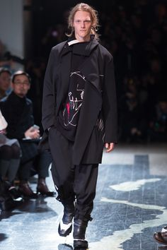Yohji Yamamoto Fall 2016 Menswear Fashion Show THAT LOOK (w/o shoes)