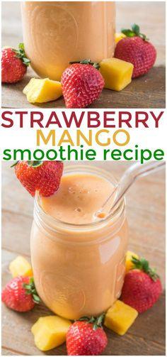 Strawberry Mango Smoothie Recipe via @KnowYourProd…Edit description