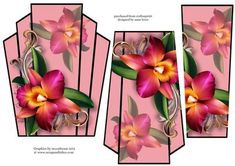 Art Deco Stacker Topper Pink Orchid on Craftsuprint - View Now!