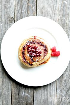 Raspberry Swirl Buttermilk Pancakes